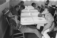 """The Black Panthers' Free Breakfast Program fed schoolchildren at no cost—and laid the groundwork for modern activism. —<em>Valerie Boyd</em> <a href=""""https://www.bonappetit.com/story/black-panther-free-breakfast-program?mbid=synd_yahoo_rss"""" rel=""""nofollow noopener"""" target=""""_blank"""" data-ylk=""""slk:See article."""" class=""""link rapid-noclick-resp"""">See article.</a>"""