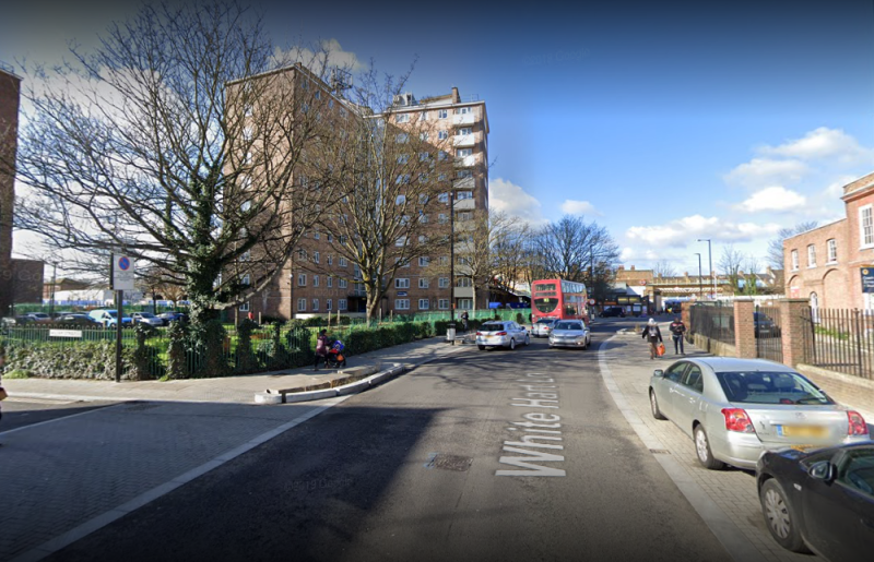 The police officer was struck by a car on White Hart Lane (Picture: Google)