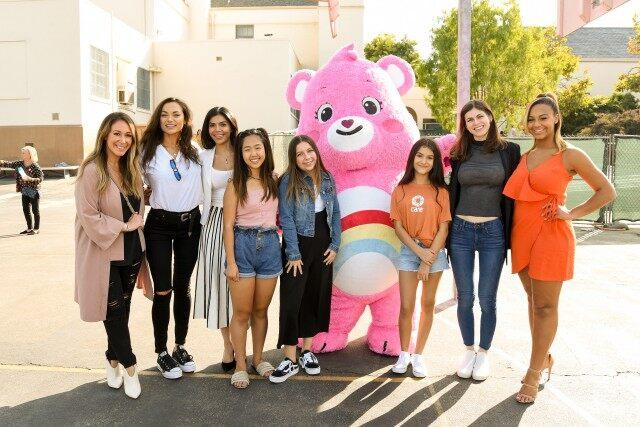 Haylie Duff, Christina Ochoa, Sheila Shah, Nina Lu, Rita Angel Taylor, Alexandra Daddario and Nia Soux attend international day of the girl with CARE and Care Bears
