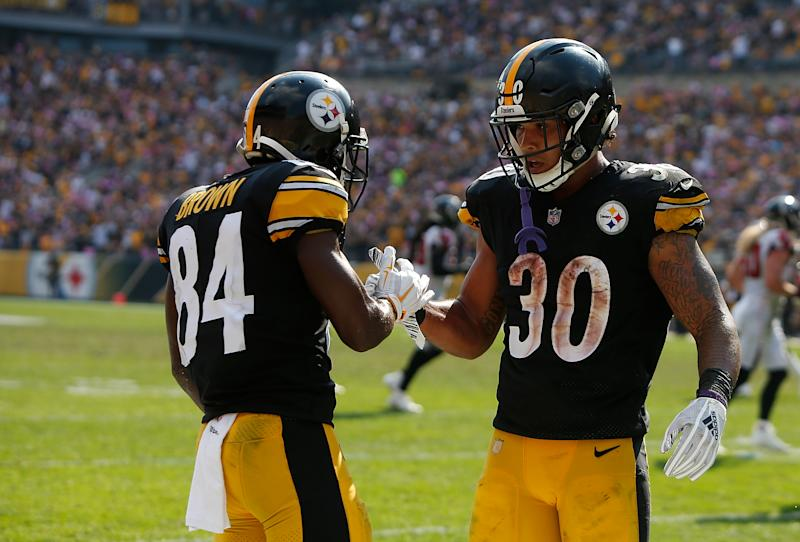 f76c2d80 Steelers-Bengals: Antonio Brown and James Conner questionable
