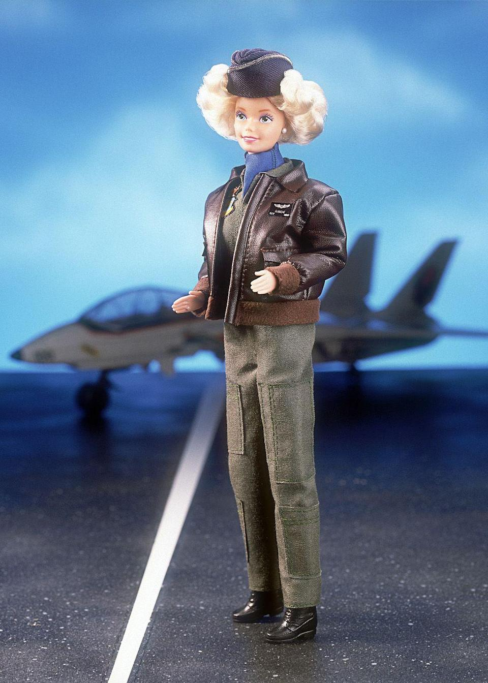 <p>The designer collaborations don't put a stop to Barbie's impressive resume building. This year, she's an Air Force pilot.</p>