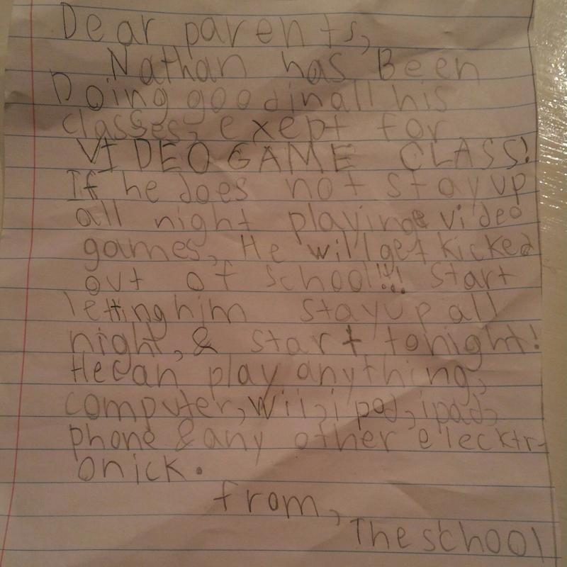 """You Won't Believe What This """"School"""" Note Asked a Boy's Parents to Do"""