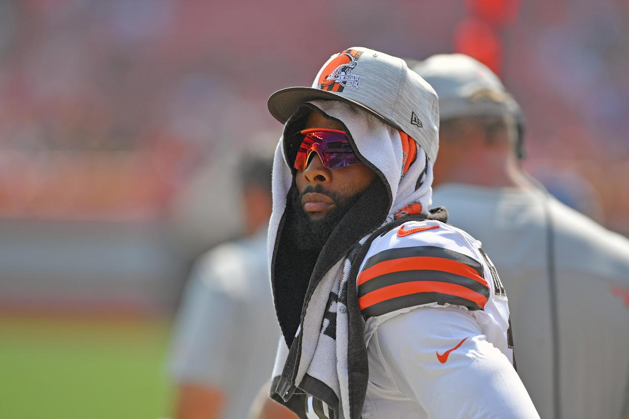 Odell Beckham Jr. will not play for the Cleveland Browns against the Houston Texans in Week 2. (Photo by Jason Miller/Getty Images)
