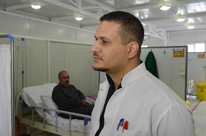 Conflict has helped the evolution and spread of antibiotic resistance, says doctor Zakaria al-Bakri, medical supervisor at the MSF hospital in Mosul (AFP Photo/Zaid AL-OBEIDI)