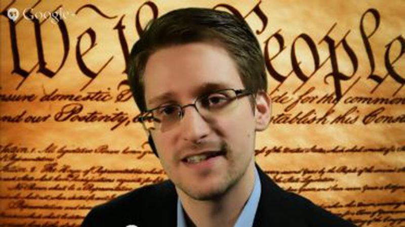 A screengrab shows Edward Snowden speaking via video conference during a panel discussion on internet privacy with representatives from the American Civil Liberties Union (ACLU) at the South by Southwest Interactive festival in Austin, Texas March 10, 2014. Former security contractor Edward Snowden, addressing a sympathetic crowd at a tech-heavy event in Austin, Texas, on Monday from a secret location in Russia, said proposed reforms at the National Security Agency show that he was vindicated in leaking classified material. Snowden, who faces arrest if he steps foot on U.S. soil, spoke via a video link to a packed house at the annual South by Southwest (SXSW) gathering of tech industry experts, filmmakers and musicians. He said the U.S. government still has no idea what material he has provided to journalists. REUTERS/ACLU/Handout via Reuters (UNITED STATES - Tags: POLITICS SCIENCE TECHNOLOGY) 
