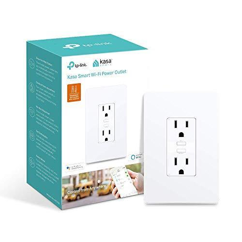 Kasa Smart Plug KP200, In-Wall Smart Home Wi-Fi Outlet Works with Alexa, Google Home & IFTTT, N…