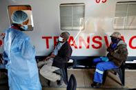 All onboard for a Covid jab: The 'Transvaco' is a vaccination centre on rails