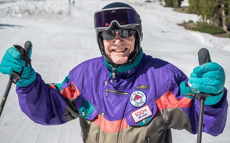 George Jedenoff celebrated his 100th birthday on the slopes of Utah
