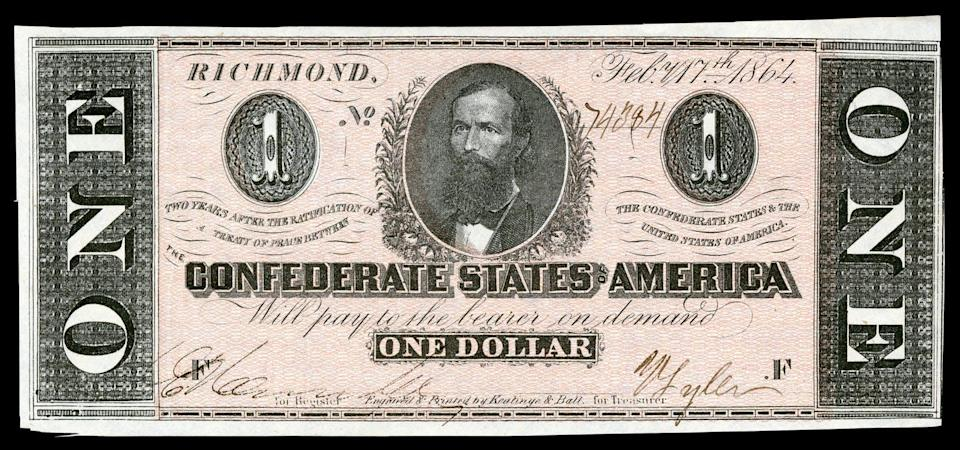 A Confederate $1 bill