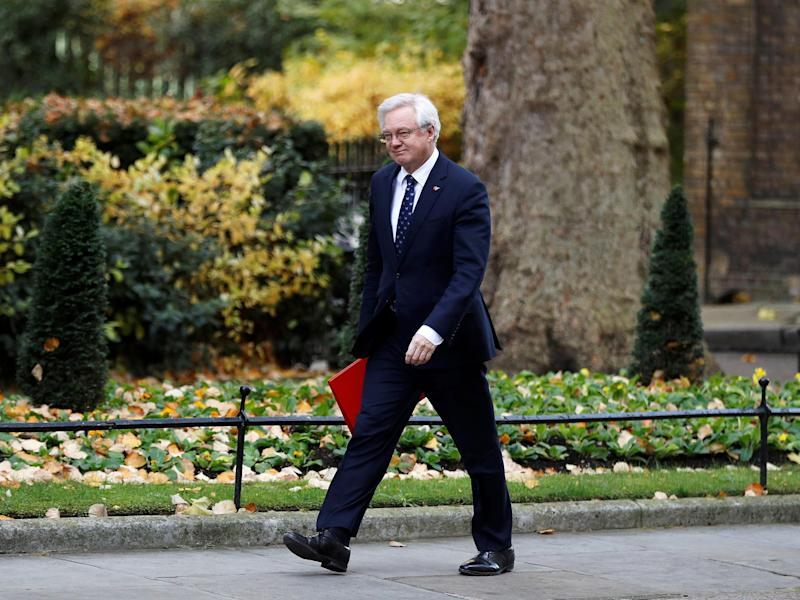 Brexit Secretary David Davis: Reuters