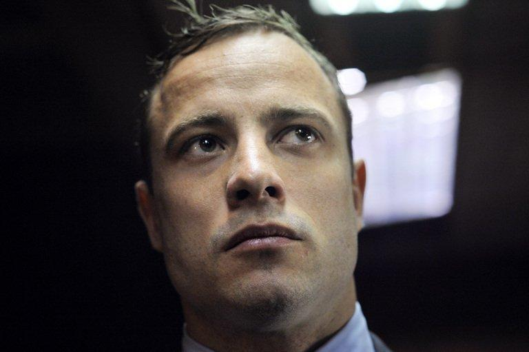 South African Paralympic sprinter Oscar Pistorius at Pretoria Magistrates Court on June 4, 2013