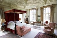 """<p>""""The Great Chamber is the finest bedroom in the house, with views north and east across the gardens. It's best known for the magnificent Tudor pendant ceiling - there's a similar one in Hampton Court Palace.""""</p>"""