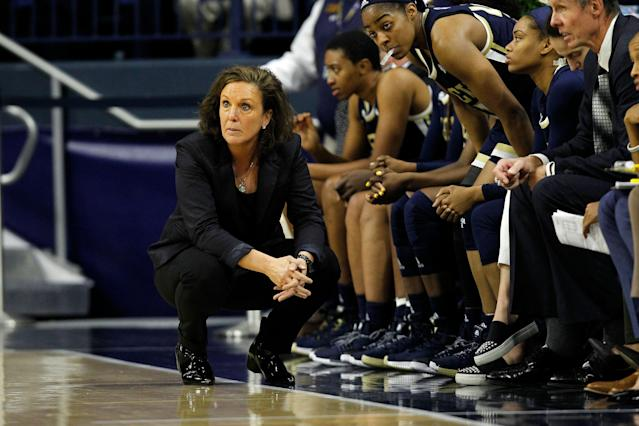 Georgia Tech Yellow Jackets head coach MaChelle Joseph alleges she was fired due to speaking out about gender inequality. (Photo by Jeffrey Brown/Icon Sportswire via Getty Images)