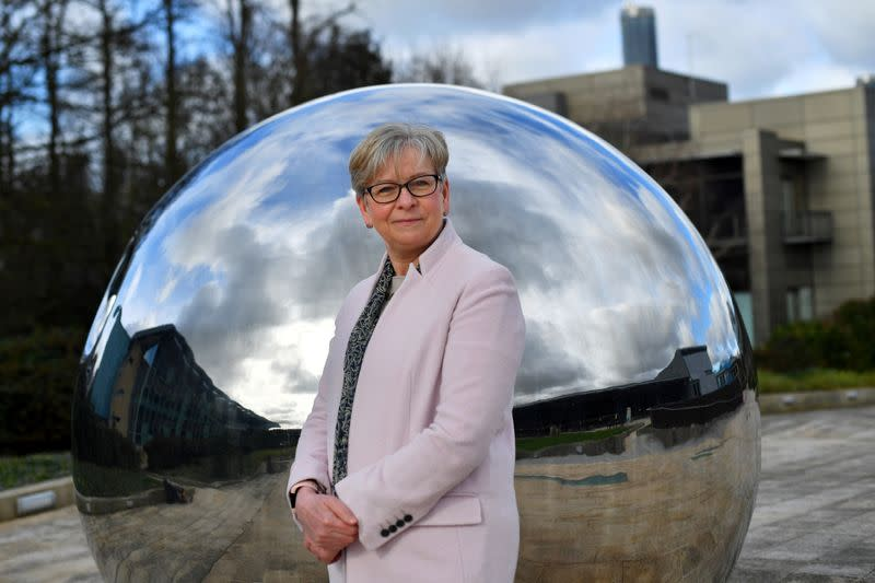 FILE PHOTO: Sharon Peacock, who heads COVID-19 Genomics UK, poses for a portrait in Cambridge
