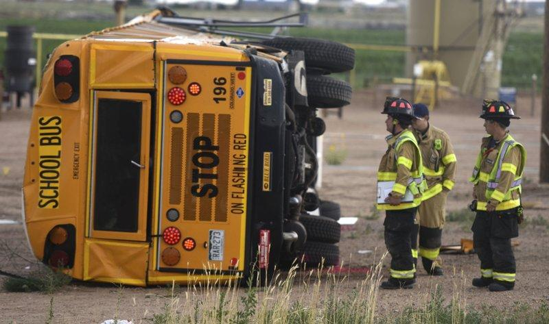 19 Students Hospitalized After a School Bus Crashed in Colorado