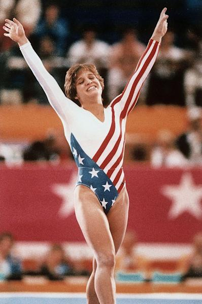 Mary Lou Retton Cheers on Daughter at Gymnastics Championships