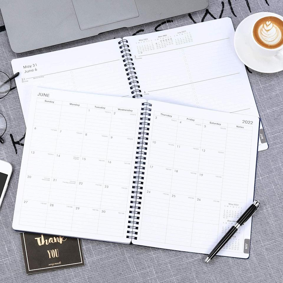 <p>No school year is complete without a planner. The <span>2021-2022 Academic Planner </span> ($12) has both monthly and weekly pages for easy year-round scheduling. There's enough space for detailed daily planning, assignments, and post-school activities. There's even a notes section for writing important things, appointments, or inspirational quotes.</p>