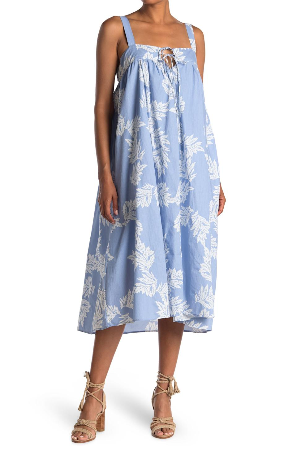 """<h2>Nordstrom Rack</h2><br><strong>Dates: </strong>Now - June 2<br><strong>Sale:</strong> Spring dresses up to 70% off<br><strong>Code:</strong> None<br><br><em>Shop <strong><a href=""""https://www.nordstromrack.com/clearance/Women"""" rel=""""nofollow noopener"""" target=""""_blank"""" data-ylk=""""slk:Nordstrom Rack"""" class=""""link rapid-noclick-resp"""">Nordstrom Rack</a></strong></em><br><br><br><strong>Stitchdrop</strong> Floral Sleeveless Tie Front Midi Dress, $, available at <a href=""""https://go.skimresources.com/?id=30283X879131&url=https%3A%2F%2Fwww.nordstromrack.com%2Fs%2Fstitchdrop-floral-sleeveless-tie-front-midi-dress%2Fn3573251%3Fcolor%3DLANAI%2520BIRDY%26eid%3D487889"""" rel=""""nofollow noopener"""" target=""""_blank"""" data-ylk=""""slk:Nordstrom Rack"""" class=""""link rapid-noclick-resp"""">Nordstrom Rack</a>"""