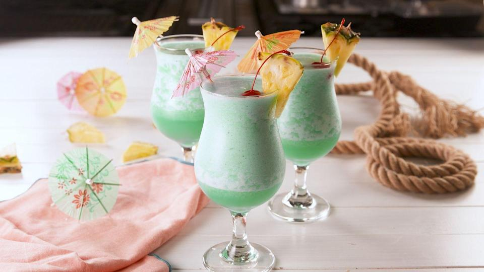 """<p>They're *the* drink of summer 2018.</p><p>Get the recipe from <a href=""""https://www.delish.com/cooking/recipe-ideas/a21240638/mermaid-coladas-recipes/"""" rel=""""nofollow noopener"""" target=""""_blank"""" data-ylk=""""slk:Delish."""" class=""""link rapid-noclick-resp"""">Delish.</a> </p>"""