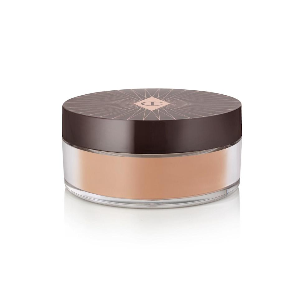 """<p>Charlotte Tilbury is rounding out her complexion collection with this silky-feeling talc-free loose setting powder that comes in three different shades (light, medium, and dark) to set makeup and cut shine. Tsubaki oil and squalane also team up in this formula to lend some nourishing ingredients for that natural-looking not-too-matte finish. Pretty genius, no?</p> <p>$45 (<a rel=""""nofollow noopener"""" href=""""https://shop-links.co/1650206768861088913"""" target=""""_blank"""" data-ylk=""""slk:Shop Now"""" class=""""link rapid-noclick-resp"""">Shop Now</a>)</p>"""