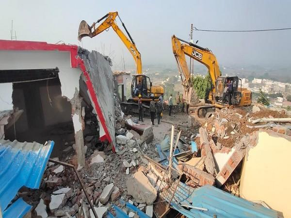 Indore administration demolished Computer Baba's ashram in Indore. [Photo/ANI]