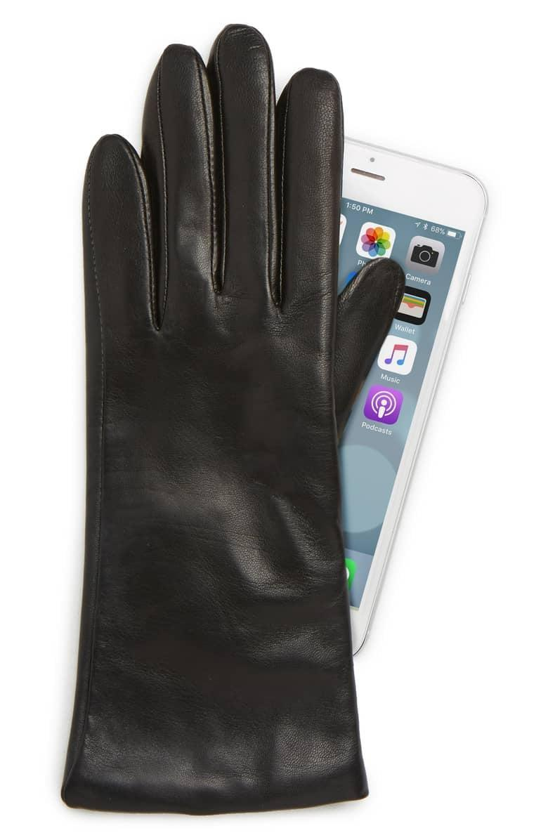 <p>These <span>Nordstrom Cashmere Lined Leather Touchscreen Gloves</span> ($74, originally $99) allow you to look good, stay warm, and keep typing.</p>