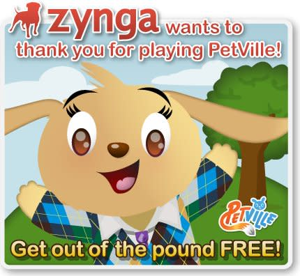 No pound fees in PetVille