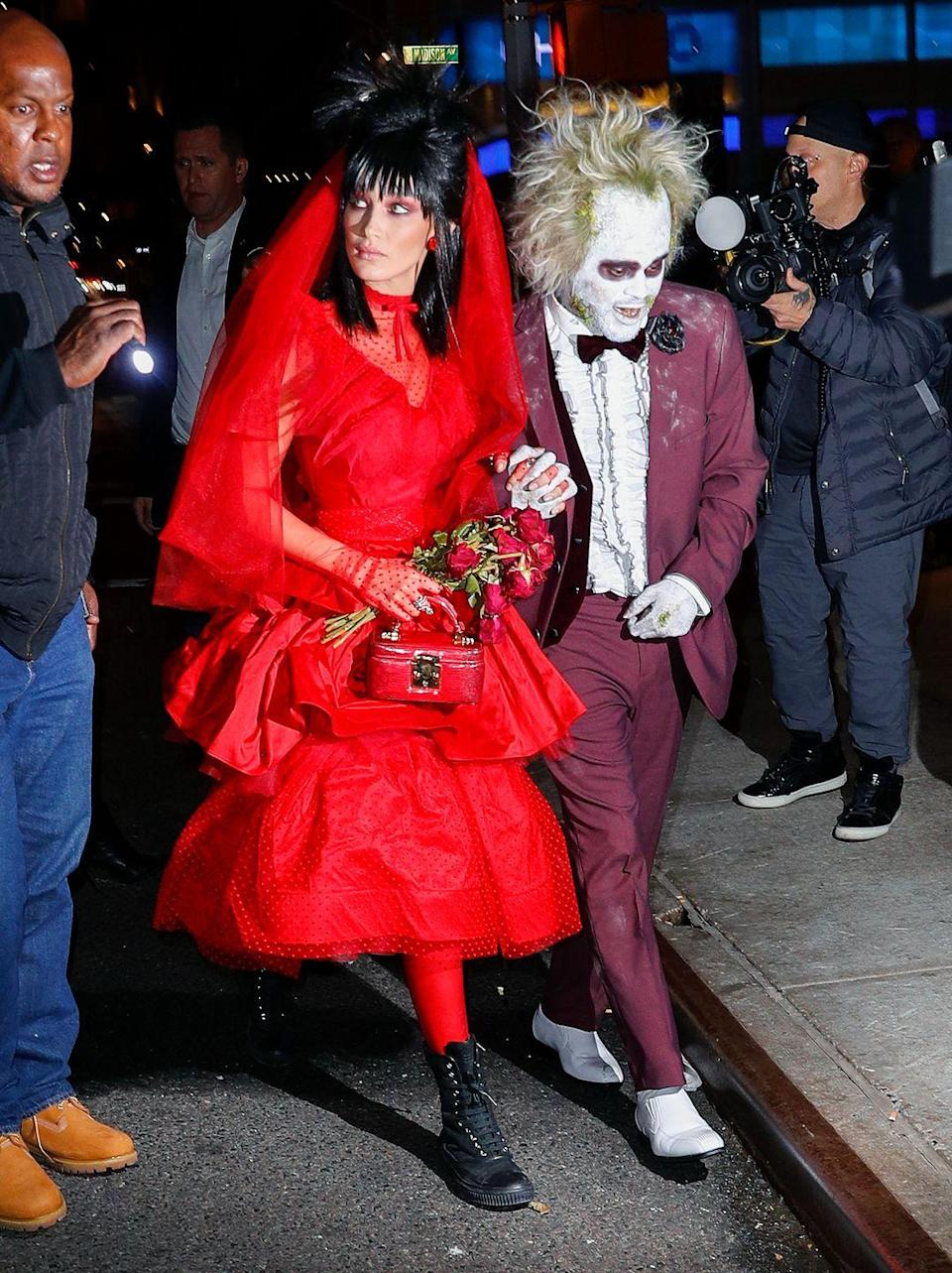 <p>In 2018, Bella Hadid and The Weeknd raised the bar on all future couples costumes by looking unrecognizable as Lydia and Beetlejuice from the classic 1988 movie.</p>
