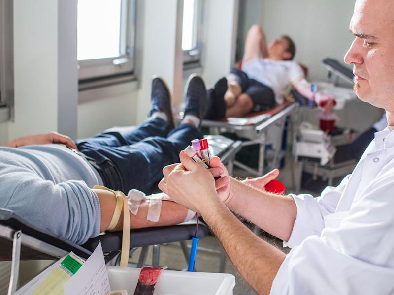 """Currently there is a 3-month """"celibacy"""" period required for gay men who want to give blood: Corbis"""