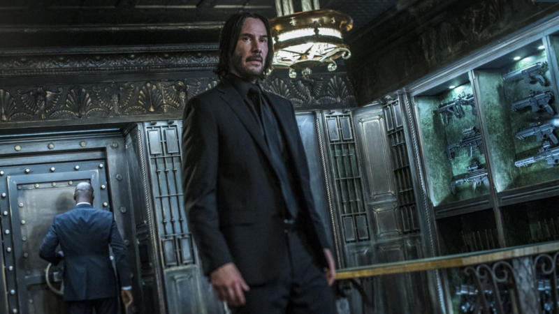 Keanu Reeves in 'John Wick: Chapter 3 - Parabellum'. (Credit: Lionsgate)