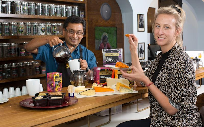 India Sturgis pairs tea and cheese with master blender, Rishi Deb - Jeff Gilbert