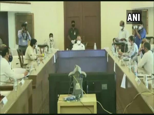 Maharashtra Deputy Chief Minister Ajit Pawar during the review meeting with Pune administration. (Photo/ANI)