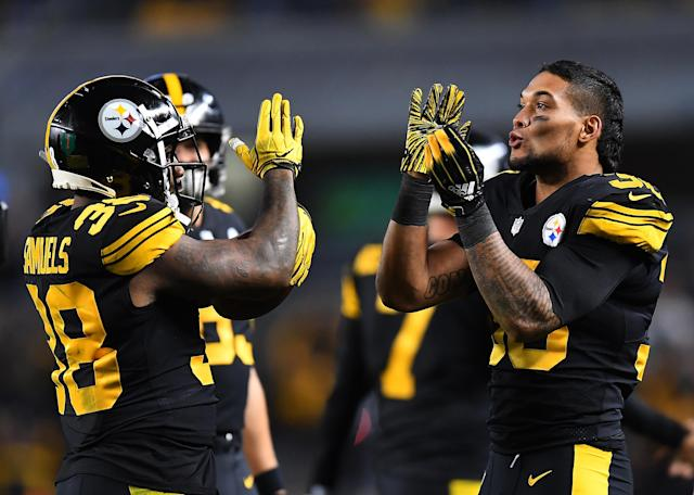 If James Conner can't go in Week 14, Jaylen Samuels could be in for a significant workload against Oakland. (Photo by Joe Sargent/Getty Images)