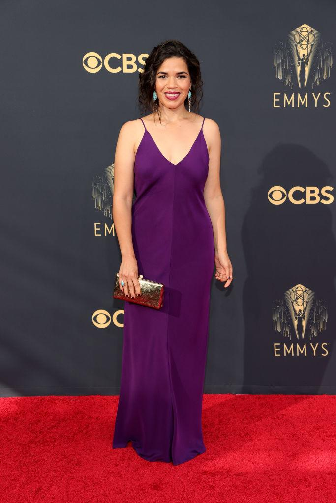 America Ferrera attends the 73rd Primetime Emmy Awards on Sept. 19 at L.A. LIVE in Los Angeles. (Photo: Rich Fury/Getty Images)