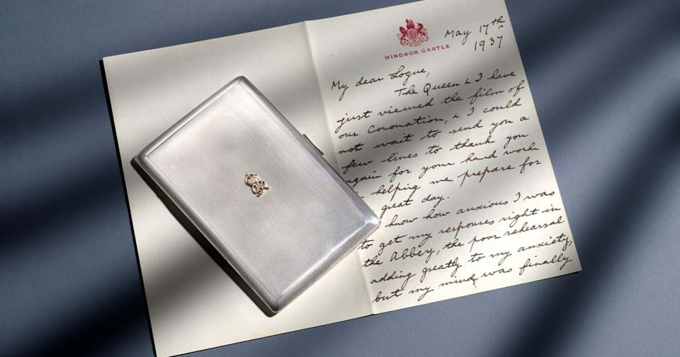 The letter was from King George VI to his speech therapist. (Woolley and Wallis)