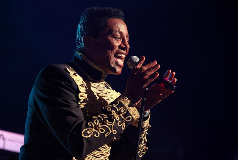 "FILE - In this June 22, 2012 file photo, Jermaine Jackson performs with The Jacksons on their Unity Tour 2012 at Star Plaza in Merrillville, IN. Court records in Los Angeles show Jackson filed a petition on Nov. 6, 2012 to change his famous last name to Jacksun, citing only ""artistic reasons."" (Photo by Barry Brecheisen/Invision/AP, File)"