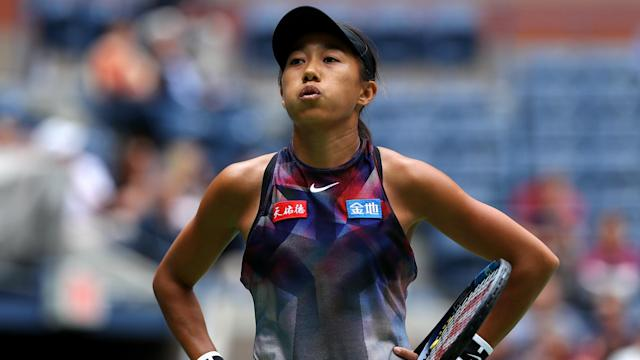 Zhang Shuai made the third round of the US Open but the Chinese went down 6-4 6-2 to Zarina Diyas at the WTA International event in Tokyo.