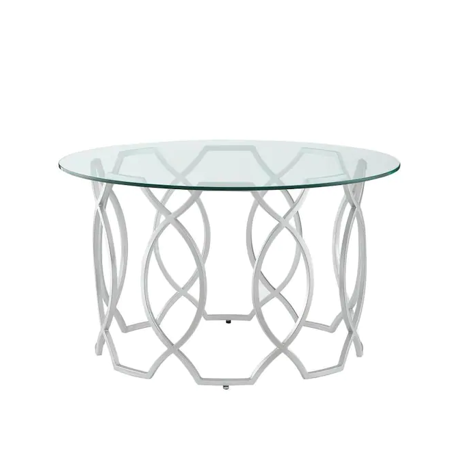 Black Friday 2020: Nicole Miller Catalina clear glass coffee table makes a mod addition to your living room.