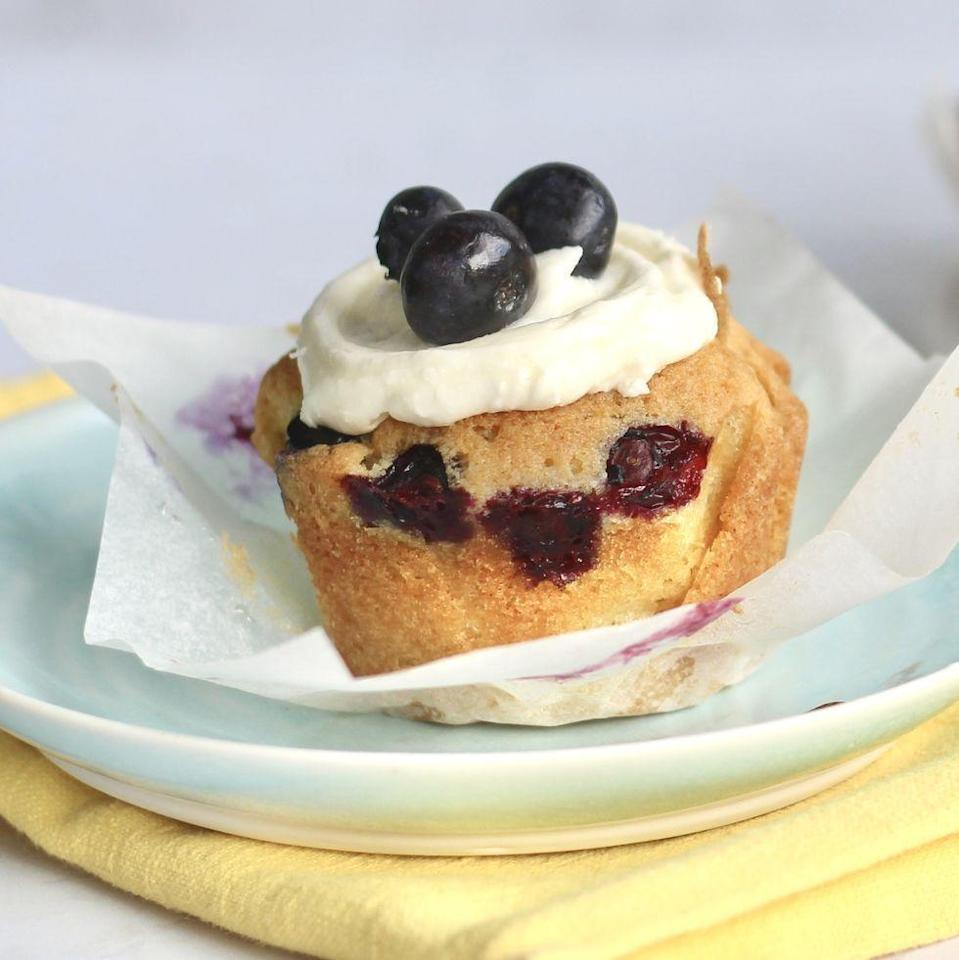 """<p>We love <a href=""""https://www.delish.com/uk/cooking/recipes/a32470940/double-blueberry-muffins-recipe/"""" rel=""""nofollow noopener"""" target=""""_blank"""" data-ylk=""""slk:blueberry muffins"""" class=""""link rapid-noclick-resp"""">blueberry muffins</a>, but when it's blueberries AND lemon, it's a match-made in heaven. This <a href=""""https://www.delish.com/uk/cooking/a32876473/lemon-blueberry-cake-recipe/"""" rel=""""nofollow noopener"""" target=""""_blank"""" data-ylk=""""slk:blueberry and lemon cake"""" class=""""link rapid-noclick-resp"""">blueberry and lemon cake</a> recipe comes in muffin form, making them tasty, easy-to-hold treats. </p><p>Get the <a href=""""https://www.delish.com/uk/cooking/recipes/a33533776/lemon-blueberry-muffins/"""" rel=""""nofollow noopener"""" target=""""_blank"""" data-ylk=""""slk:Lemon and Blueberry Muffins"""" class=""""link rapid-noclick-resp"""">Lemon and Blueberry Muffins</a> recipe.</p>"""