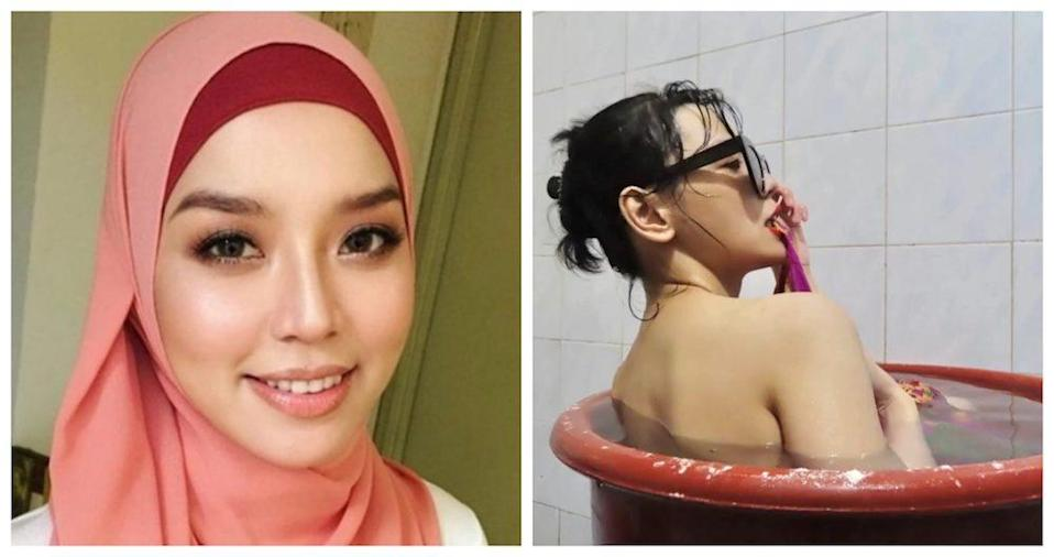 The 'Akademi Fantasia' alumna recently made headlines for posting a bath time photo. —Pictures from Instagram/Nonny Nadirah