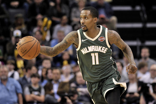 "After a brief return to the <a class=""link rapid-noclick-resp"" href=""/nba/teams/mil"" data-ylk=""slk:Milwaukee Bucks"">Milwaukee Bucks</a> last season, point guard Brandon Jennings will reportedly play in Russia next year. (AP)"