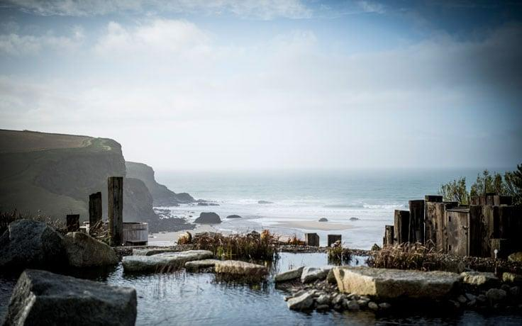 Views from The Scarlet, Cornwall' first ecohotel