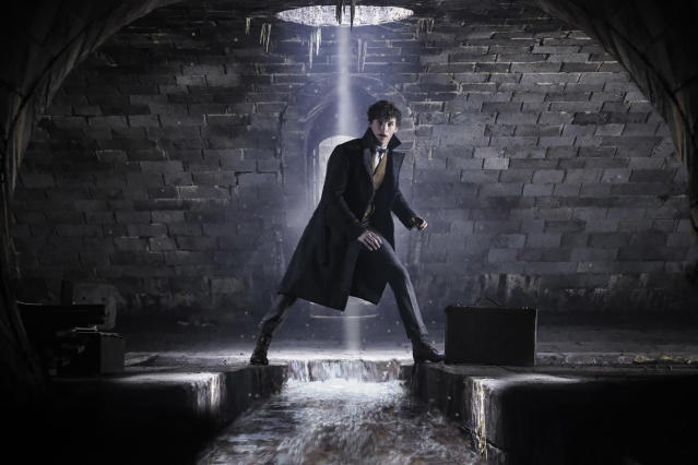 <p>Since the events of the first <em>Fantastic Beasts</em>, Newt has published his guide to magical creatures and is a celebrity in the wizarding world.<br> (Photo: Jaap Buitendijk/Warner Bros.) </p>