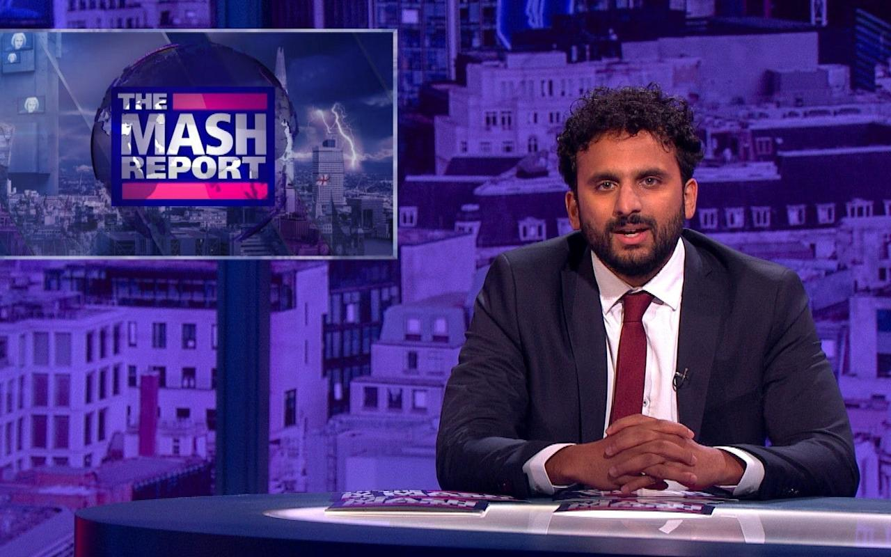 "Thursday 20 July The Mash Report BBC Two, 10.00pm This is an enticing new comedy series in which Nish Kumar puts to the test the commonly held notion that world events are so weird just now they're actually beyond parody. Kumar is probably the fastest rising comedian on television at the moment with regular appearances on topical panel shows across all of the mainstream channels. Here he gets the ultimate prize, hosting a show that seeks to eke as much fun as possible from the ""post truth"" world of fake news by giving it a uniquely quick-witted and surreal satirical spin.  The idea is to emulate the acerbic humour of The Daily Mash, a popular UK website that, like America's The Onion, relentlessly parodies the world of news and current affairs.  To that end, he's joined by a team of up-and-coming writers and comedians, including Ellie Taylor, Steve N Allen and Rachel Parris, for a mix of silly roving reports and quick-fire news analysis that is filmed before a studio audience as close to broadcast as possible to keep things topical.  As such, the content is impossible to predict but with so much talent on board, this programme promises to be both biting and bonkers. Gerard O'Donovan Golf: The Open Sky Sports Golf, 6.30am The Open Championship returns to the Royal Birkdale in Southport, one of golf's most challenging courses, and there is no clear favourite for title. Predicting a winner this year has been made even harder by the fact that there has been a lack of standout players and the last seven Majors have been won by first-time champions. The quest for the Claret Jug has meant that Rory McIlroy has had ""to go back to the drawing board"" and Ian Poulter has overhauled his putting technique by emulating Brooks Koepka's index finger down the shaft method. So as the 146 edition of the tournament begins, all eyes will be on Sweden's Henrik Stenson as he takes to the tee as the defending champion. This is the 10th time that the tournament has been held at Royal Birkdale and there has yet to be a British winner. The last time it was hosted here, in 2008, Ireland's Padraig Harrington was victorious, becoming the first European in more than 100 years to retain the title in the process.   NatWest T20 Blast Cricket: Durham Jets v Leicestershire Foxes Sky Sports Cricket, 6.30pm Durham, who are rooted to the bottom of the North Group having lost their opening two T20 matches, take on Leicestershire at Chester-Le-Street. The visitors are prone to thrilling finales in this  form of the game, having recently edged out Lancashire when Colin Ackermann hit a six off  the final ball.  RHS: Tatton Flower Show 2017 BBC Two, 7.30pm The BBC can't get enough of the RHS's big garden shows. Here, Monty Don and Joe Swift present the first of reports from the Cheshire event, with Carol Klein sharing tips on how to get the best from hydrangeas.   James Martin's French Adventure ITV, 8.30pm Melons and onions are unlikely culinary bedfellows but chef James Martin finds a way to combine the two in this edition exploring the Languedoc, where, for more conventional tastes, he also cooks barbecued steak and the perfect cassoulet.  Who Do You Think You Are? BBC One, 9.00pm Sports presenter Clare Balding has a well-known lineage stretching back to Oliver Cromwell and the Earls of Derby on her mother's side. So here she takes the road less travelled, investigating whether her great-grandfather was gay (""It would mean that I'm not the first one,  or even the only one"") and exploring her father Ian's fascinating American roots.   Outlander More4, 9.00pm There's more high passion in the Highlands as Claire's (Catriona Balfe) Scottish time-travel adventure becomes even more complicated at the MacKenzie clan gathering, where the rivalry between Jamie (Sam Heughan) and Dougal (Graham McTavish) intensifies. Dogs: An Amazing Animal Family Sky1, 9.00pm This week, presenter Patrick Aryee undertakes an epic journey from North to South America to reveal how and why canines of all sorts have been successful at adapting to an extraordinary range of climates and environments. These include Amazonian wolves to Arctic foxes.  Riviera Sky Atlantic, 9.00pm Now that it's past the half way point, things are hotting up in Sky Atlantic's glamorous Cote d'Azur thriller as Georgina (Julia Stiles) and the rest of the Clios family are taken in for questioning by police after a murder at a gala. GO I Shot My Parents BBC One, 10.45pm; NI, 11.10pm Previously shown on BBC Three, this is the intriguing story of Nathon Brooks, a 14-year-old from Washington State, who shot his parents in 2013. They survived, but can they forgive their son, who's now in prison? GO Two Rode Together (1961) ★★★☆☆ Film4, 2.45pm  Working for the first time with director John Ford, James Stewart stars in this slow western, based on the novel Comanche Captives by Will Cook and which has thematic echoes of Ford's The Searchers. Guthrie McCabe (Stewart) is a corrupt town marshal who is hired by a Cavalry lieutenant (Richard Widmark) to help rescue captives held by the Comanche in 1880s Texas. Shirley Jones co-stars. What Happens in Vegas (2008) ★★☆☆☆ Comedy Central, 9.00pm  This romcom stars Ashton Kutcher and Cameron Diaz as strangers who get drunk and marry overnight, wake up in the morning and think, yikes. They decide to divorce but then he wins a $3 million-dollar jackpot and she reminds him they are married! The film may not lift the soul with its cynical mercenary undercurrents, but it will appeal to everyone's grasping side. From Russia with Love (1963) ★★★★☆ ITV4, 9.00pm  Ah, those were the days: the certainties of the Cold War, a beautiful Soviet defector and a chase across the Balkans. Will Spectre avenge the death of Dr No? No chance. Sean Connery was in the swing of things  in his second outing as Bond, pursued by two of 007's best adversaries, in ""Red"" Grant (Robert Shaw) and Rosa Klebb (Lotte Lenya). Terence Young directs. Friday 21 July Nina Naustdal with her Chihuahuas Credit: ITV The Secret World of Posh Pets ITV, 8.00pm It would be easy to mock the obsessions in this series – and I do really want to know what it is about Chihuahuas that makes people so eager to put clothes on them – but the good nature of (most of) those involved means that instead you tend to find yourself going along with the madness.  This week, the focus is on fashion designer and Chelsea socialite Nina Naustdal, who has staked her considerable finances on a business making couture clothes for Chihuahuas (see, I told you), the likeable Emma and Wayne, who live in Warwickshire with their 23 rabbits and dream of building their pets an Alice in Wonderland-themed play park, and Gary Hooker and Michael Young, award-winning hair salon owners who take expensive products home to shampoo their prized dogs.  ""I look at people and I think, 'God, you'd make lovely children,' and then I look at some people and think, 'You should never breed,'"" admits Gary before adding: ""That's bad isn't it really?"" It is a bit but Gary redeems himself by proving to be excellent company as he prepares his two dogs, Zac and Scarlett for Crufts. The latter is a particular show-stealer, exuberant, playful and lovely to look at, but can she behave in the ring? Sarah Hughes Ozark Netflix, from today Jason Bateman (Arrested Development) stars in and directs this new thriller series. Its 10 episodes start off simply enough, following a financial planner from Chicago whose money-laundering side business for a drug cartel comes to light, forcing him to take his wife (Laura Linney) and children into hiding in the picturesque Ozarks. Then events turn particularly dark and violent.   RHS: Tatton Flower Show 2017 BBC Two, 7.30pm The concluding half of these highlights from the Cheshire flower show takes a look at a garden designed to adapt to environment and the rising popularity of cacti, before the winners of the Best Show Garden and Best Back to Back Garden are revealed.   BBC Proms 2017 BBC Four, 8.00pm You don't need to be a hardcore classical music enthusiast to enjoy tonight's Prom. It's film night at the Royal Albert Hall, as the BBC Concert Orchestra plays the scores of the mighty John Williams (winner of no less than five Oscars, 22 Grammys and seven Baftas). Expect a combination of his much-loved classics, including music from Jaws, Superman, Star Wars, The BFG, War Horse, Munich and Goodbye Mr Chips, as well as some of his lesser-known work. Presented by Katie Derham. CG Super League: Wigan Warriors v Leeds Rhinos Sky Sports Main Event, 8.00pm We're at the D W Stadium, where Wigan Warriors, languishing in seventh, host Leeds Rhinos, who  are currently in second place. When these sides met at the end of March, Kallum Watkins marked his 200th appearance for Leeds with a try to help them beat Wigan 26-18.  Peter Kay's Comedy Shuffle BBC One, 9.00pm The comedian picks another crop of his best clips, this week featuring Phoenix Nights' Brian receiving prank phone calls, an appearance by Amy Winehouse, and a scene in which Car Share's John and Kayleigh chat about naturists.   The Last Leg Channel 4, 10.00pm After a week of action from the World Para Athletics Championships, The Last Leg team return to their original remit. On this edition of the show, Adam Hills, Alex Brooker and Josh Widdicombe run through the week's highlights and welcome Paralympic champions Ellie Simmonds, Jonnie Peacock and Liam Malone to the studio. Top of the Lake BBC Two, 11.05pm & 12.05am With the second season of this excellent crime drama due to arrive next week, BBC Two is wisely re-running the first one. In this third and fourth episodes, Detective Robin Griffin (Elisabeth Moss) discovers a small grave in the woods. Catherine Gee Heat (1995) ★★★★☆ Dave, 9.00pm Bringing together the irresistible pairing of Al Pacino and Robert De Niro, Heat is a tautly plotted, superbly acted thriller from Michael Mann. Its premise is simple: a dedicated LAPD cop (Pacino) is on the trail for a professional bank robber (De Niro, his last great role), who lives by the callous motto of, ""Never have anything in your life that you can't walk out on in 30 seconds flat. Natalie Portman also stars. Salt (2010) ★★★☆☆ E4, 9.00pm  Directed by Phillip Noyce, this thriller is so full of twists you're never quite sure what to believe. Angelina Jolie is CIA operative Evelyn Salt, who's named as a double agent by a captured Russian spy. What ensues is a cat-and-mouse chase in which Jolie is able to survive ridiculous daredevil escapes. It's entertaining enough, even if the plot is far-fetched. Liev Schreiber, Chiwetel Ejiofor and Daniel Olbrychski co-star. Election (1999) ★★★☆☆ W, 9.00pm  Adapted from Tom Perrotta's novel, this sharp, satirical high-school comedy stars Matthew Broderick and Reese Witherspoon. When irksome overachiever Tracy Flick (Witherspoon) runs for school president, frustrated teacher Jim McAllister (Broderick, looking a world away from the super-cool Ferris Bueller) becomes fixated on bringing her down, and convinces a nice-but-dim jock (Chris Klein) to run against her. Television previewers Catherine Gee, Sarah Hughes, Clive Morgan, Gerard O'Donovan, Patrick Smith, Gabriel Tate and Rachel Ward"