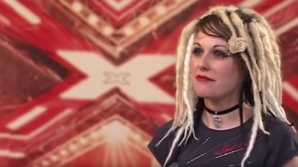 """<strong>Amy """"Ariel"""" Burdett (1981-2019)</strong><br />During the fifth series of X Factor in 2008, Amy – under the moniker """"Ariel"""" – had one of the show's most famous auditions in history."""
