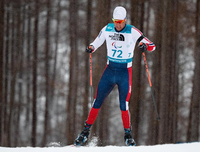 Nils-Erik Ulset of Norway competes in the Biathlon Standing Men's 15km at the Alpensia Biathlon Centre. The Paralympic Winter Games, PyeongChang, South Korea, Friday 16th March 2018. OIS/IOC/Simon Bruty/Handout via Reuters