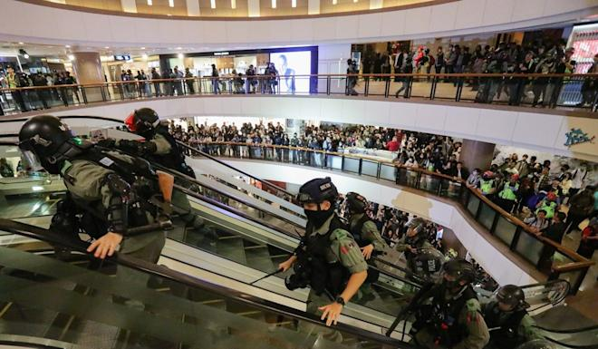 The video featured no scenes of violent clashes between police and protesters. Photo: May Tse