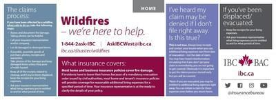 Wildfires - we're here to help. Tips from Insurance Bureau of Canada (CNW Group/Insurance Bureau of Canada)