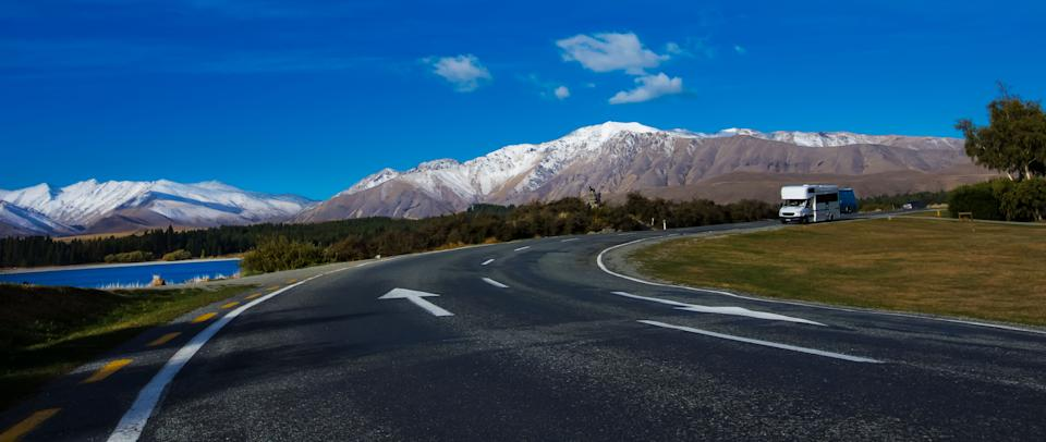 Road set against mountains. Source: Getty Images