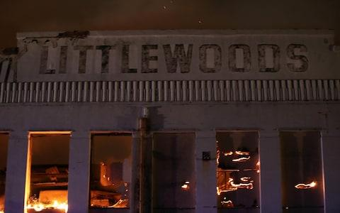 A fire destroyed Liverpool's iconic Littlewoods building in September - Credit: Peter Byrne/PA